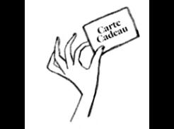 icône main avec carte cadeau