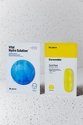 Ceramidin Facial Sheet Mask & Dermask Water Jet Vital Hydra Solution