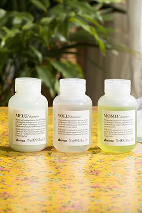 shampoings MELU,  VOLU et  MOMO