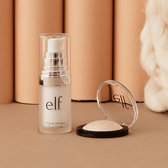 Highlighter Baked (5g) - Mineral Infused Base de Maquillage (14ml), E.L.F.