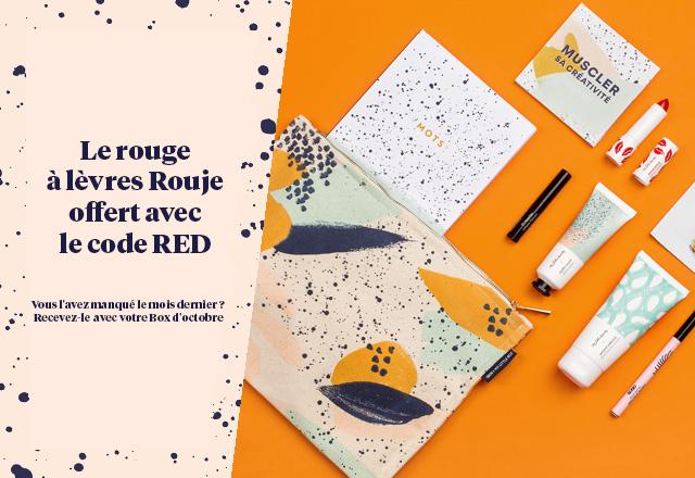 My Little Box : le rouge à lèvres Rouje offert avec le code RED